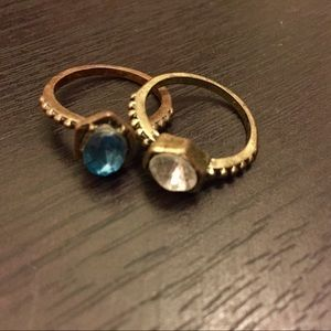 Jewelry - Set of two rings with gems.